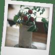 ミニトマトを花瓶に