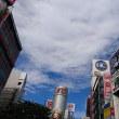今朝の渋谷の空と雲