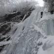 寒波 アイスブルーの滝