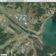 Yahooの地図は震災前の航空写真