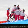 手指切断の危険を侵して、日本選手の妨害する北朝鮮選手?