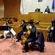 12月4日(火)のつぶやき 平成30年12月3日(月曜日)の12月定例会開会日に、福岡県議会の本会議場で、九州交響楽団メンバーによる弦楽四重奏コンサートを開催