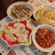 豚トロ焼き&ラタトゥイユ&炊飯器deパエリア