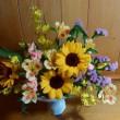 沢山のお花を貰ったので、玄関に生けました~~!