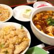 【ミニセット】麻婆麺+チャーハンを頂きました。 at 元祖紙やき ホルモサ