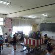 1年夏祭りと6年福島県新地小との交流