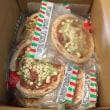 大量の冷凍ピザが到着