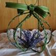 ラベンダーで、花かご作り・・・!(6月の欧風花)