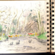 世界わがスケッチの旅 オランダ キューケンホフ公園