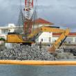 天候悪化のため海上行動は中止。K1護岸ほかの工事が進められる。