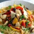 烏賊と野菜のカラフルパスタ