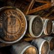 NIKKA WHISKY ウイスキーの樽が並んでいます 一号貯蔵庫(ニッカウイスキー余市蒸溜所)