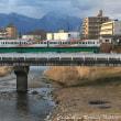 《鉄道写真》(アルピコ交通上高地線)鉄橋を渡る3000形