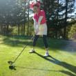 ゴルフ合宿2日目、前半終了