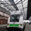 ヘルシンキの駅と二階建列車