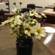 時々カフェのコーヒーとお花