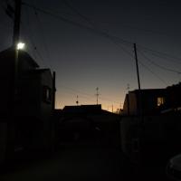 夕方もきれいな空
