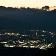 夕陽・美ヶ原