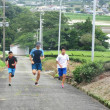 200m登り坂ダッシュ8本(茶畑農道)!