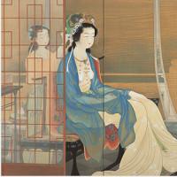 <松伯美術館> 松園・松篁・敦之三代展「清らかな世界を想い描く」