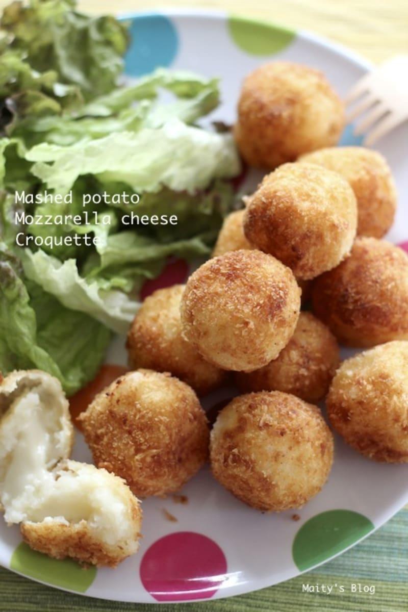 マッシュポテトとモッツァレラチーズのコロッケ