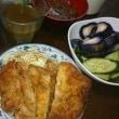 「今日のお昼ご飯」!!「薄切り肉のトンカツ」!!