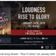 "Loudness ""I'm Still Alive"" Official Song Stream - ""Rise To Glory"" out January 26th"