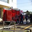 飯岡消防団、海上消防団合同中継訓練