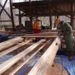 床材の加工続き