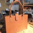 生徒さんの作品/外縫いトートバッグ