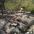 中国湖南省桃坨村の山火事
