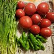 無農薬新鮮野菜が届きました❗