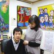 知的障害の画家、震災犠牲者への祈り込め 陸前高田