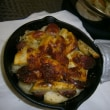 スキレットでフラポテチーズ焼き 11月16日夕飯