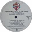 トム・ジョンストンのアルバム、Everything You Hear Is True、我が家の地味なレコード紹介シリーズ、その二十四