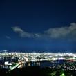 五台山から見た星空と夜景