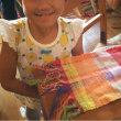 子ども達のはた織り体験♪