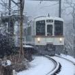 3月の大雪、秩父の三峰口駅