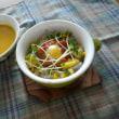 明太子&レンコンのコーンライス~オリーブオイル風味
