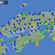台風11号の現在地は、アメダス(風向・風速)でわかる