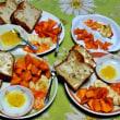 定番の朝食づくり