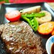 ♪赤飯とステーキ♪