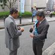 元衆議院議員・服部良一さん 阪急茨木市駅で訴え /「安倍政治」に下す審判