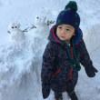 境内にて⛄雪遊び⛄