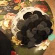 ウールガーゼレースのお花ベレー