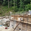 芦間川上流とこべ沢の工事について視察
