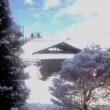 突然の雪景色にビックリ!