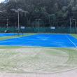 神辺テニスセンターもうすぐ、新品のコートで生まれ変わる