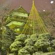 雪、降る高島城
