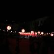大文字焼き・盆踊りの遠い音